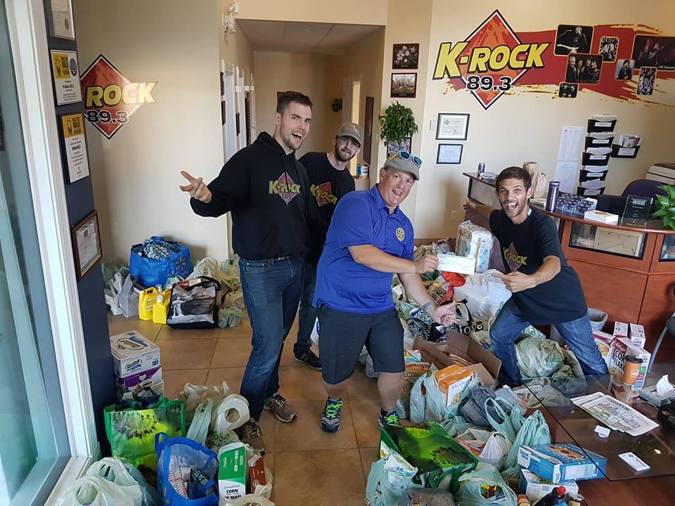 gates insurance and k-rock food drive